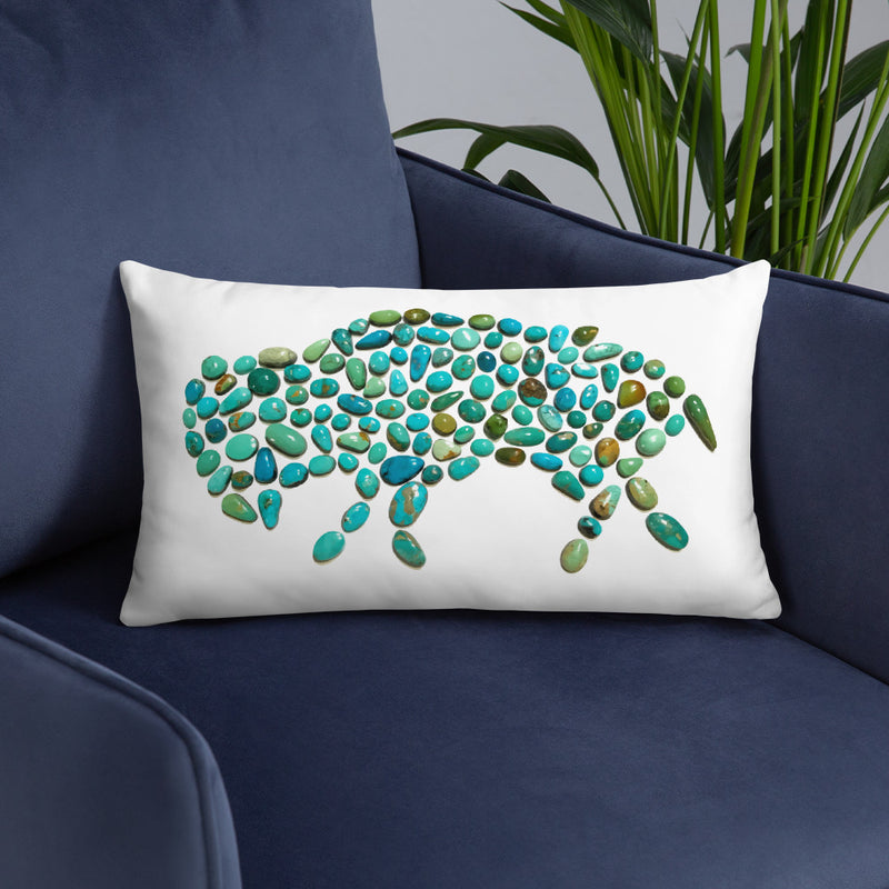 Turquoise Buffalo Throw Pillow