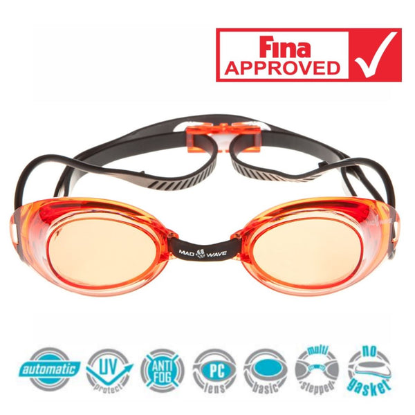 Madwave Liquid Racing Mirrored Goggle Red
