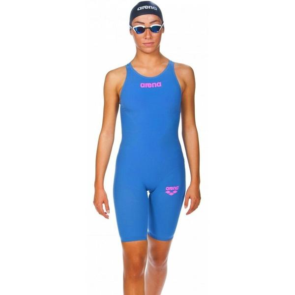 Arena R-Evo One Kneeskin Junior - Blue / Powder Pink