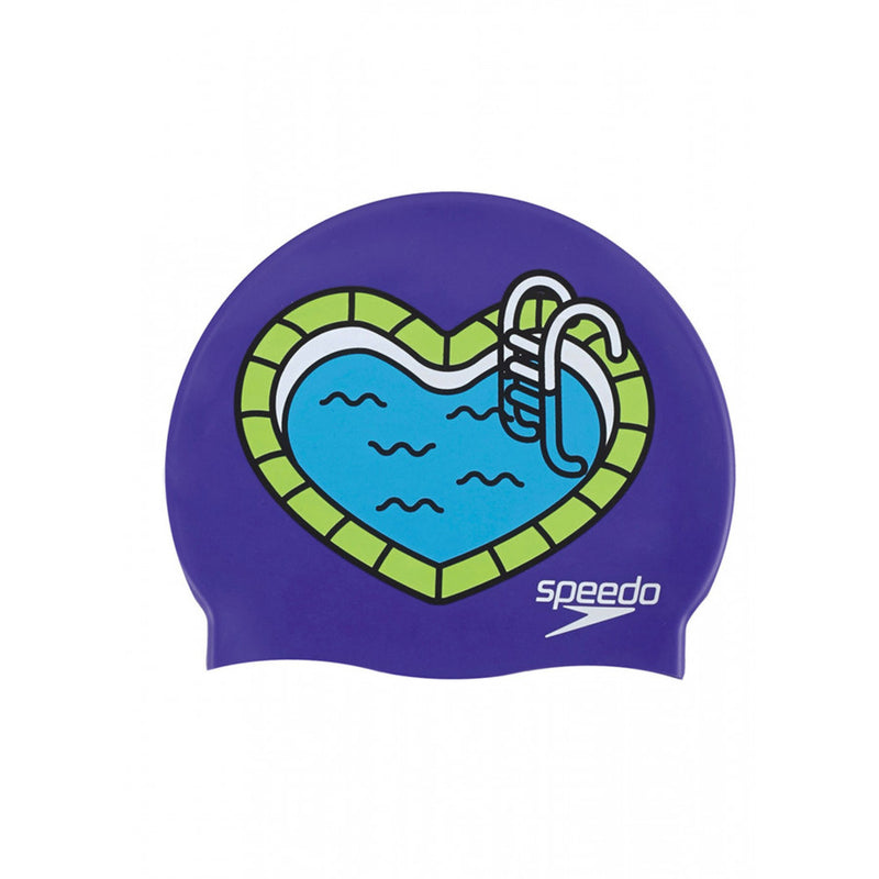 Speedo Slogan Print Junior Cap Pool