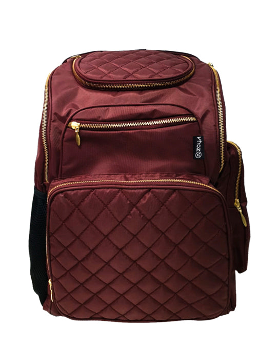 Zoya Diaper Backpack Bag Purgundy