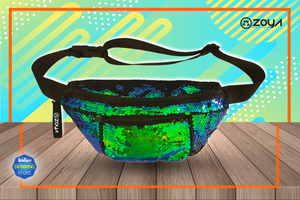 Zoya Sparkle Waist Bag Greenish Blue