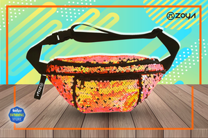 Zoya Sparkle Waist Bag Orange