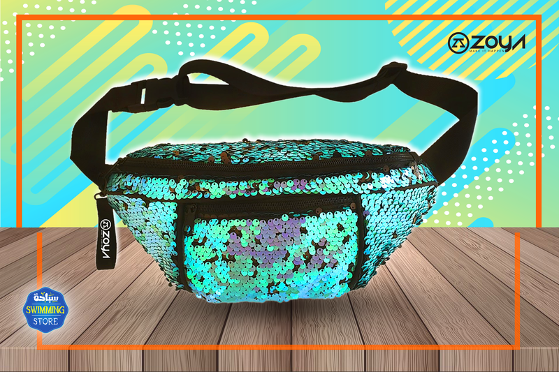 Zoya Sparkle Waist Bag sky blue
