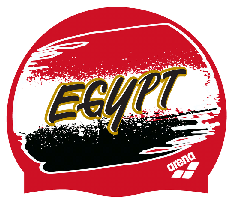 Arena Egypt Flag swimming cap