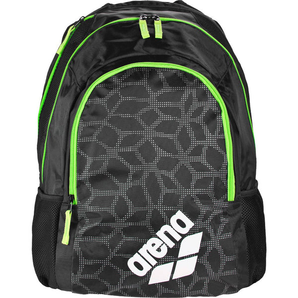 Arena Spiky 2 Backpack Black X-Pivot-Flu Green