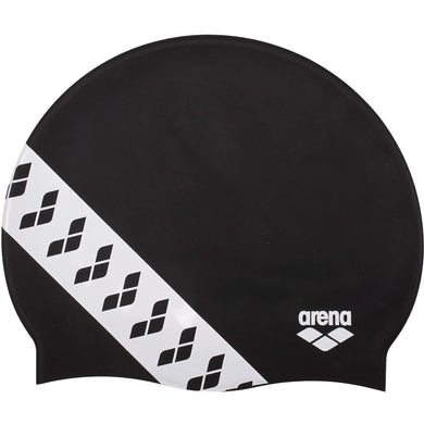 Arena swimcap Team Stripe Black