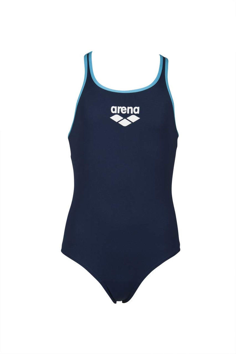 Arena G Biglogo Jr swimpro Back Black-Turquoise
