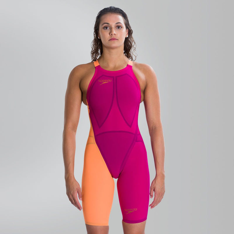 Speedo Fastskin LZR Racer Elite 2 Closedback Kneeskin Magenta Flo orange