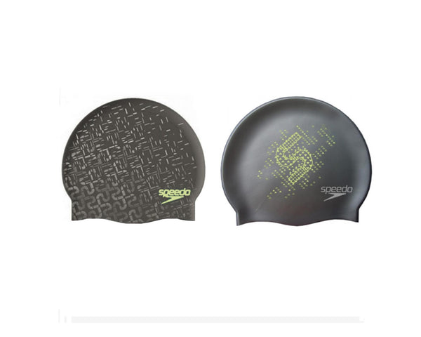 Speedo Reversible Silicone Cap Dark Grey