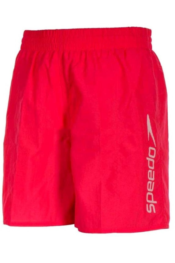 "Speedo Boys Challenge 15"" Swim Shorts Junior Neon Pink"