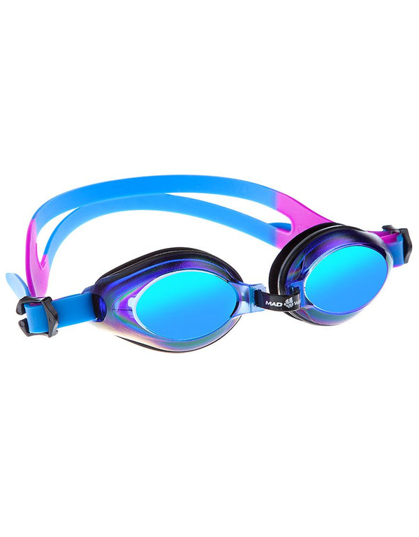 Mad Wave Aqua Rainbow  Mirrored  Goggles - Blue