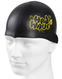 Madwave Silicon Black Junior Swim Cap