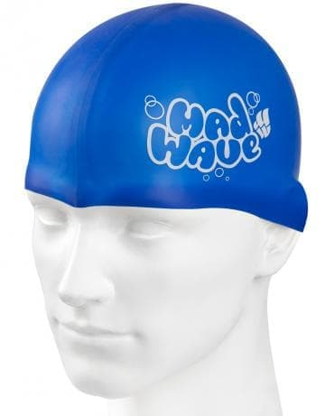 Madwave Silicon Blue.White Junior Swim Cap