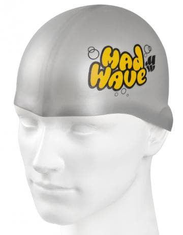 Madwave Silicon Grey Junior Swim Cap
