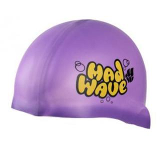 Madwave Silicon Purble Junior Swim Cap