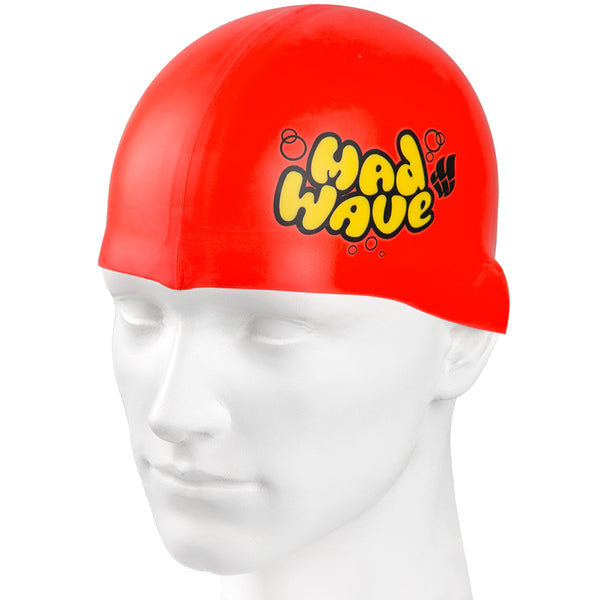 Madwave Silicon Red Junior Swim Cap