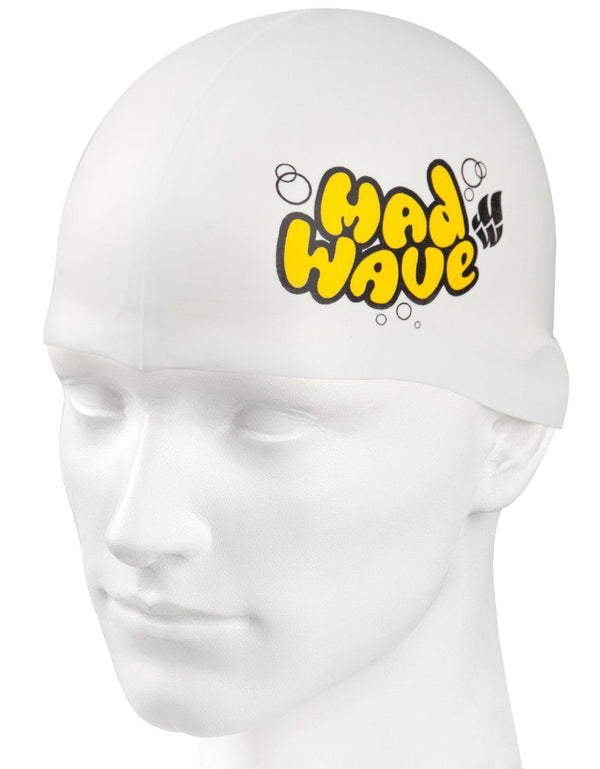Madwave Silicon White Junior Swim Cap