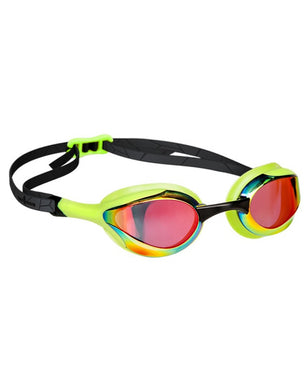 Mad Wave Alien Rainbow Mirrored Goggles - Green
