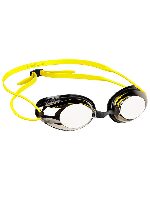 Mad Wave Lane 4 Mirrored Goggles -Yellow