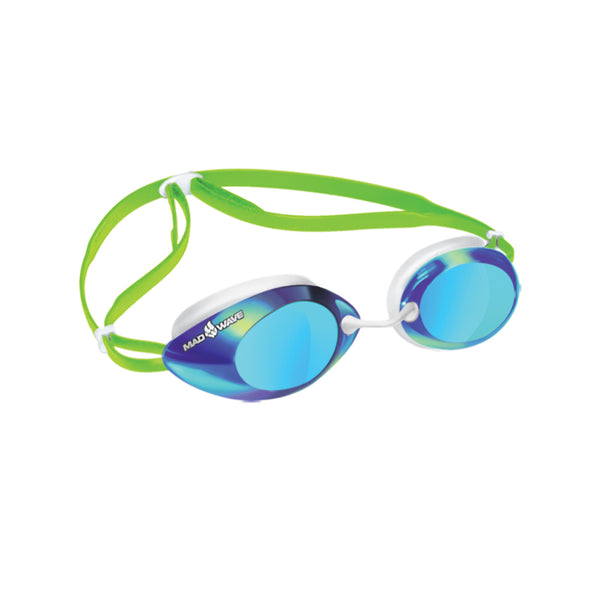 Mad Wave Lane 4 Rainbow Mirrored Goggles -Green
