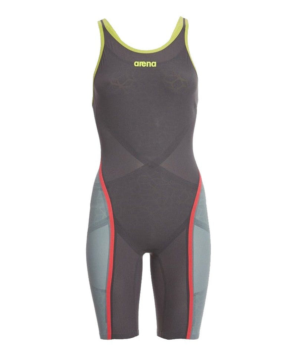 Arena Carbon Ultra Kneesuit Open Back Dark Grey / Fluo Yellow