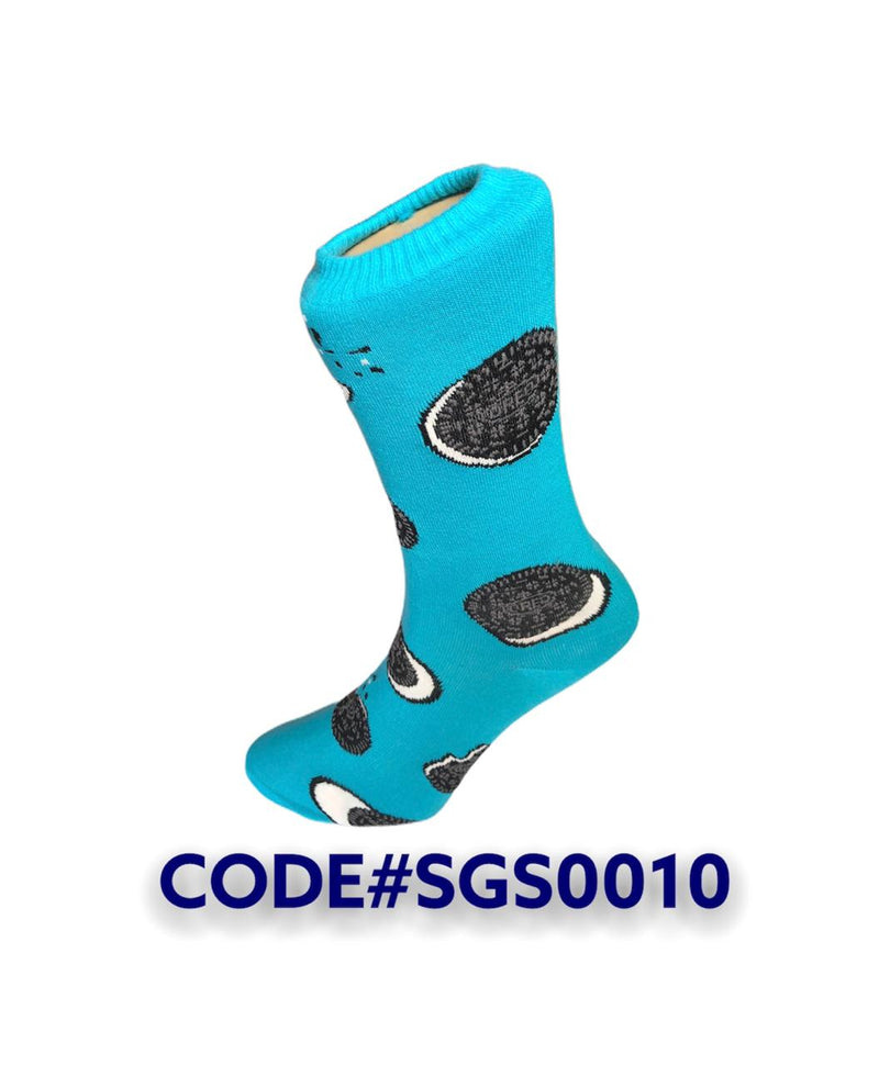 Oreo Blue Long Socks SGA0010