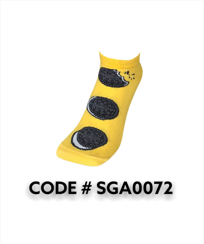 Oreo - Yellow  Ankle Socks SGS0072