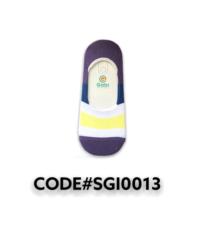 Striped Secret Socks Purple.White.Yellow SGI0013