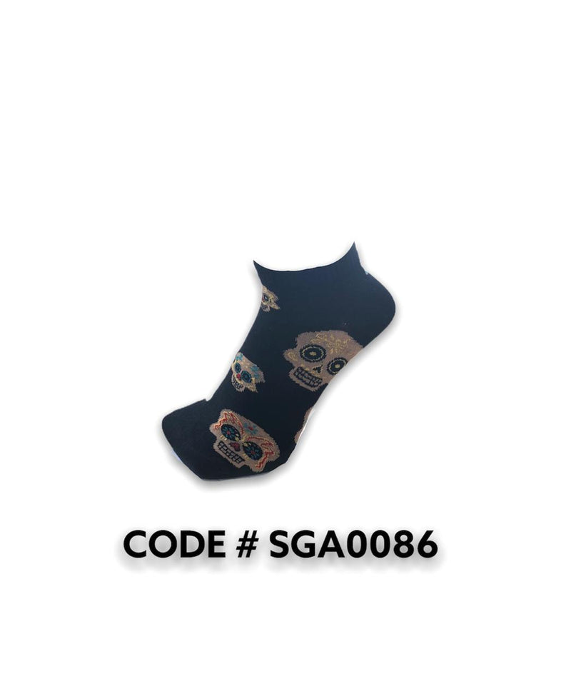 Skull Black Ankle Socks SGA0086