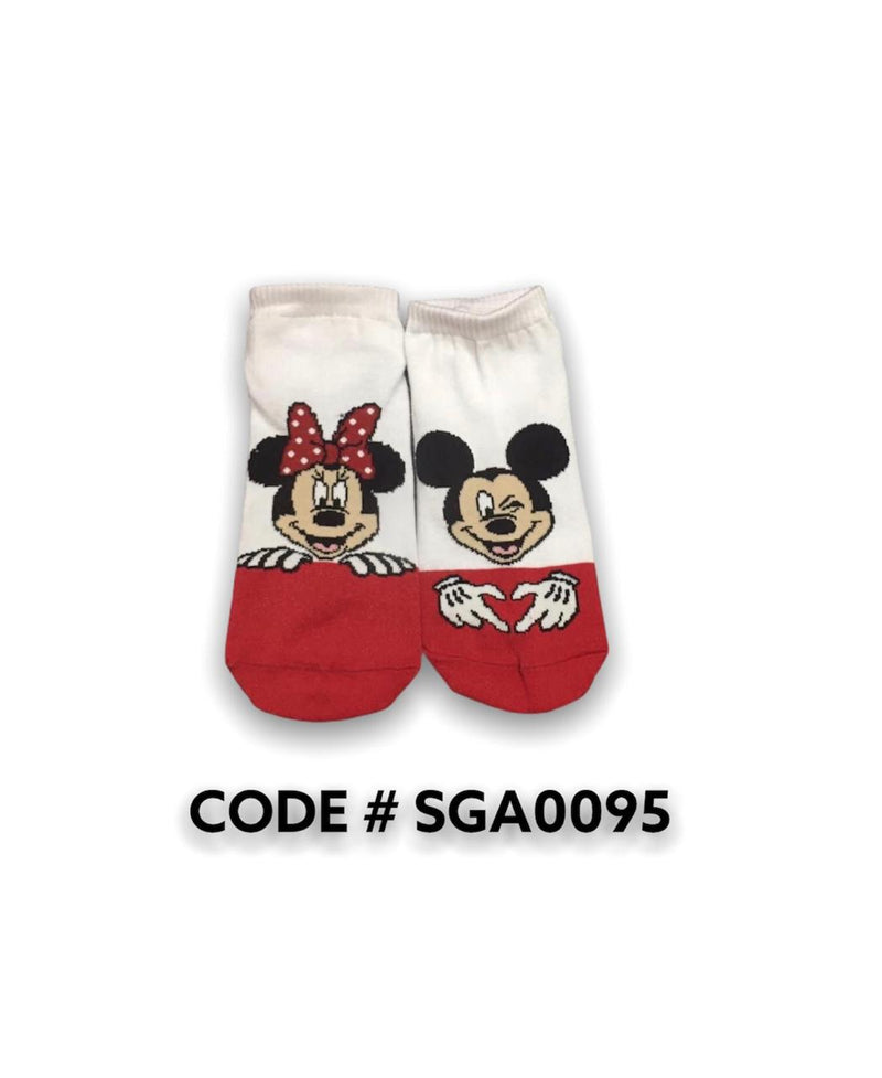 Minnie Mouse&mickey Mouse Ankle Socks SGA0095