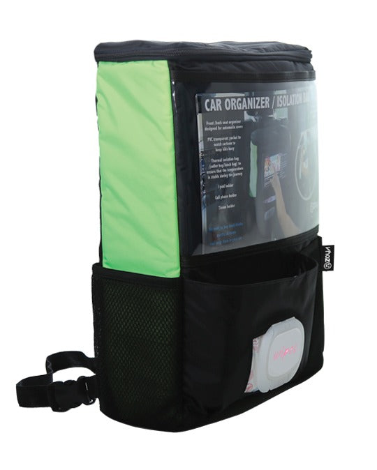 Zoya Car Organizer & Isolator Bag Neon Green/ Black