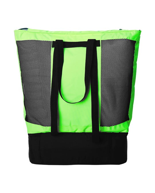 Zoya Beach Bag & Cooler Neon Green / Black