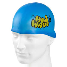 Madwave Silicon Blue.Yellow Junior Swim Cap