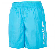 "Speedo Boys Challenge 15"" Swim Shorts Junior Light Blue"