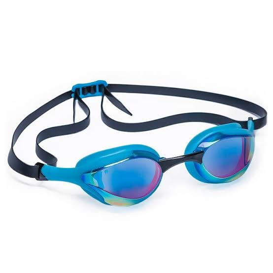 Mad Wave Alien Rainbow Mirrored Goggles -Azure