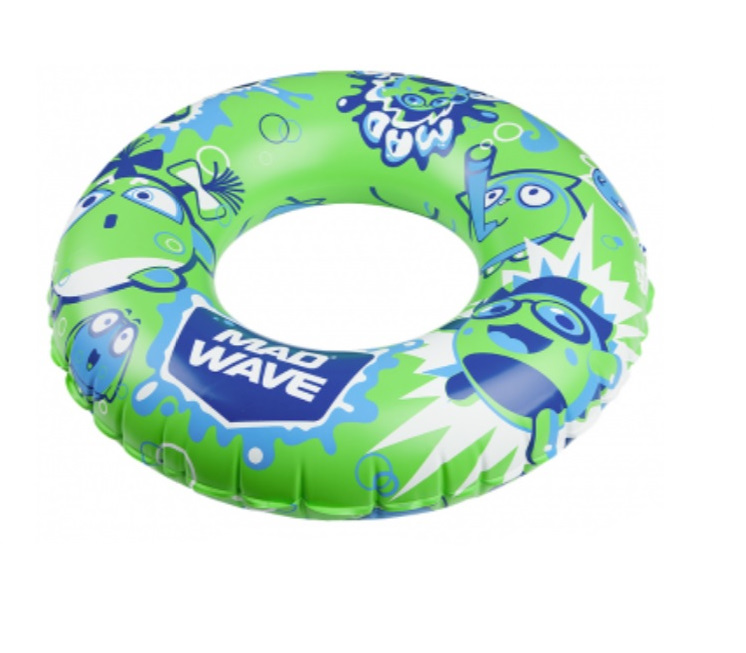 Mad Wave Swim Ring Mad Bubbles Green 70 cm