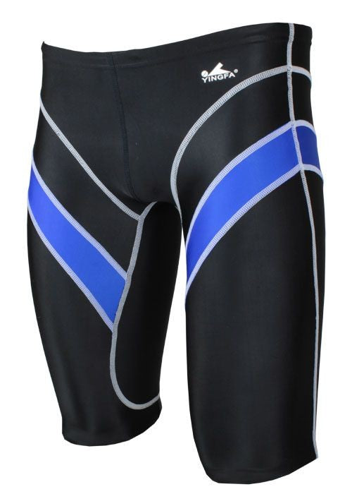 Yingfa 9402-1 Lightning Arrow Sharkskin Jammers Black/Blue Fina Approved