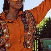 Orange flowers wind breaker