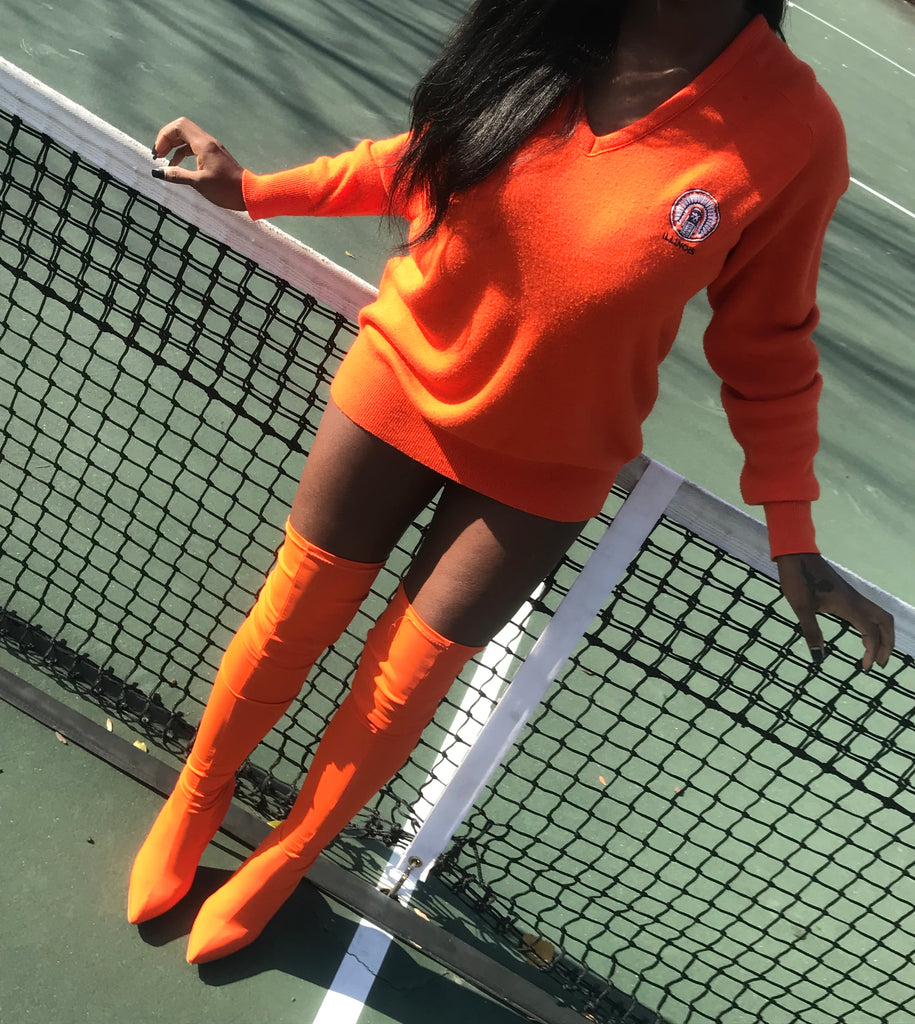 Orange me out sweater