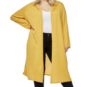 Mustard Color Long Fashion Hoody