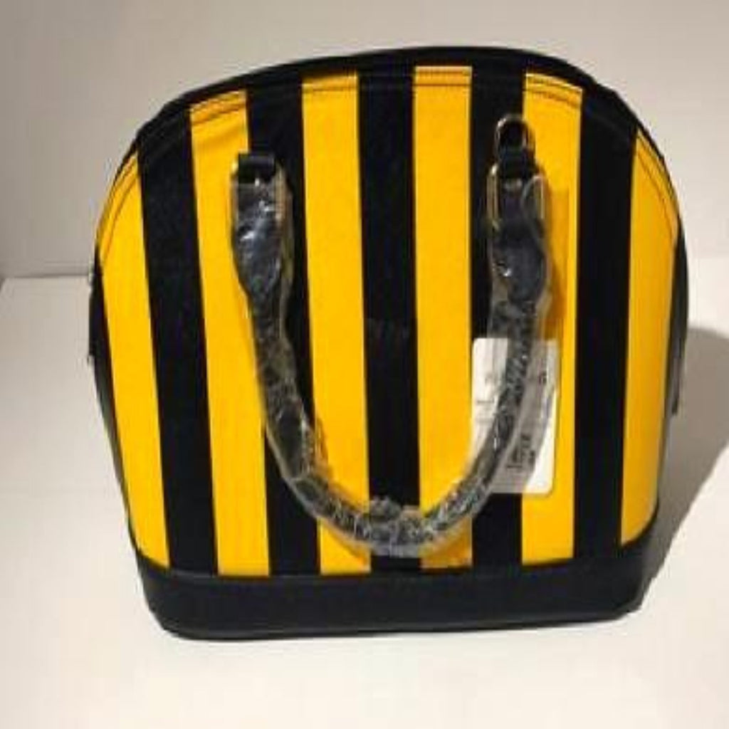 Black and Yellow Striped Handbag