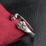 Cute  Dog Paw Resizable Ring