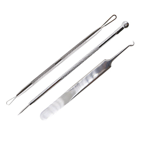 3 Pcs Acne Extractor Tweezers