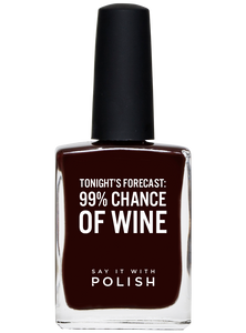 Tonight's Forecast: 99% Chance of Wine