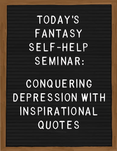 CONQUERING DEPRESSION WITH INSPIRATIONAL QUOTES - Card