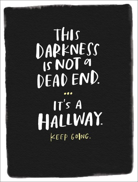 DARKNESS IS NOT A DEAD END - Card