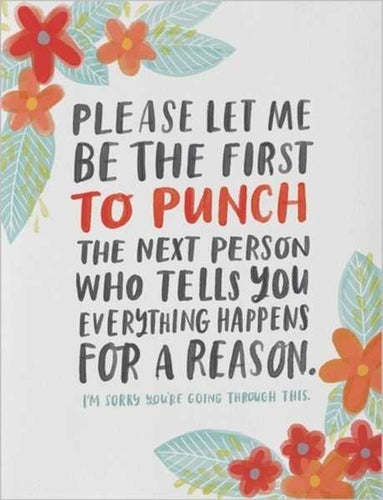 EVERYTHING HAPPENS FOR A REASON - Card