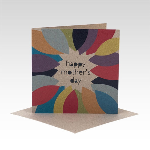 Colourful leaves Mother's Day card