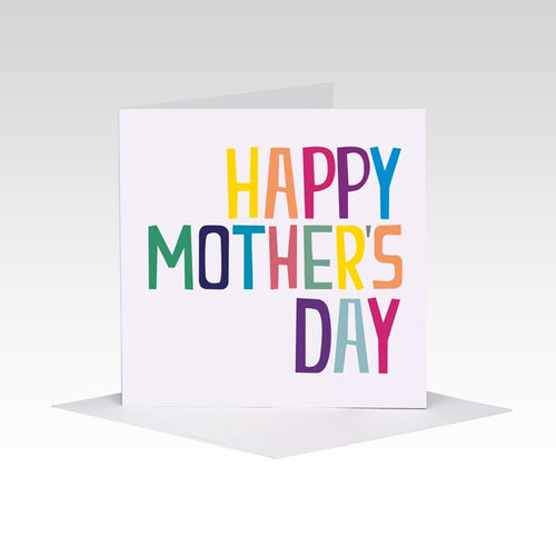 Colourful type Mother's Day card